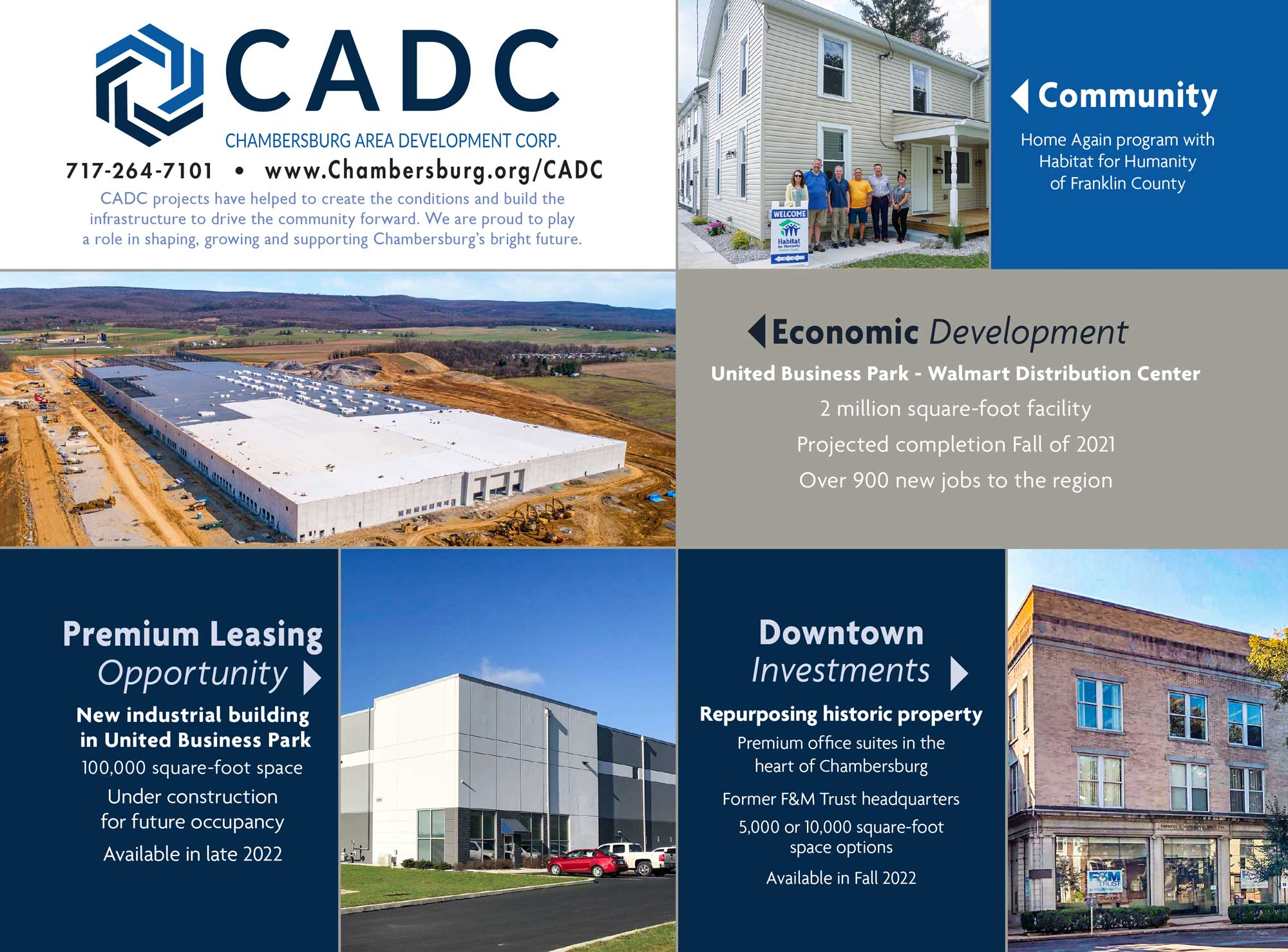 """<center>Chambersburg Area Development Corp.   <b><a href=""""https://chambersburg.org/CADC"""" target=""""_blank"""" rel=""""noopener noreferrer"""">CLICK HERE to view the website</a></b></center>"""