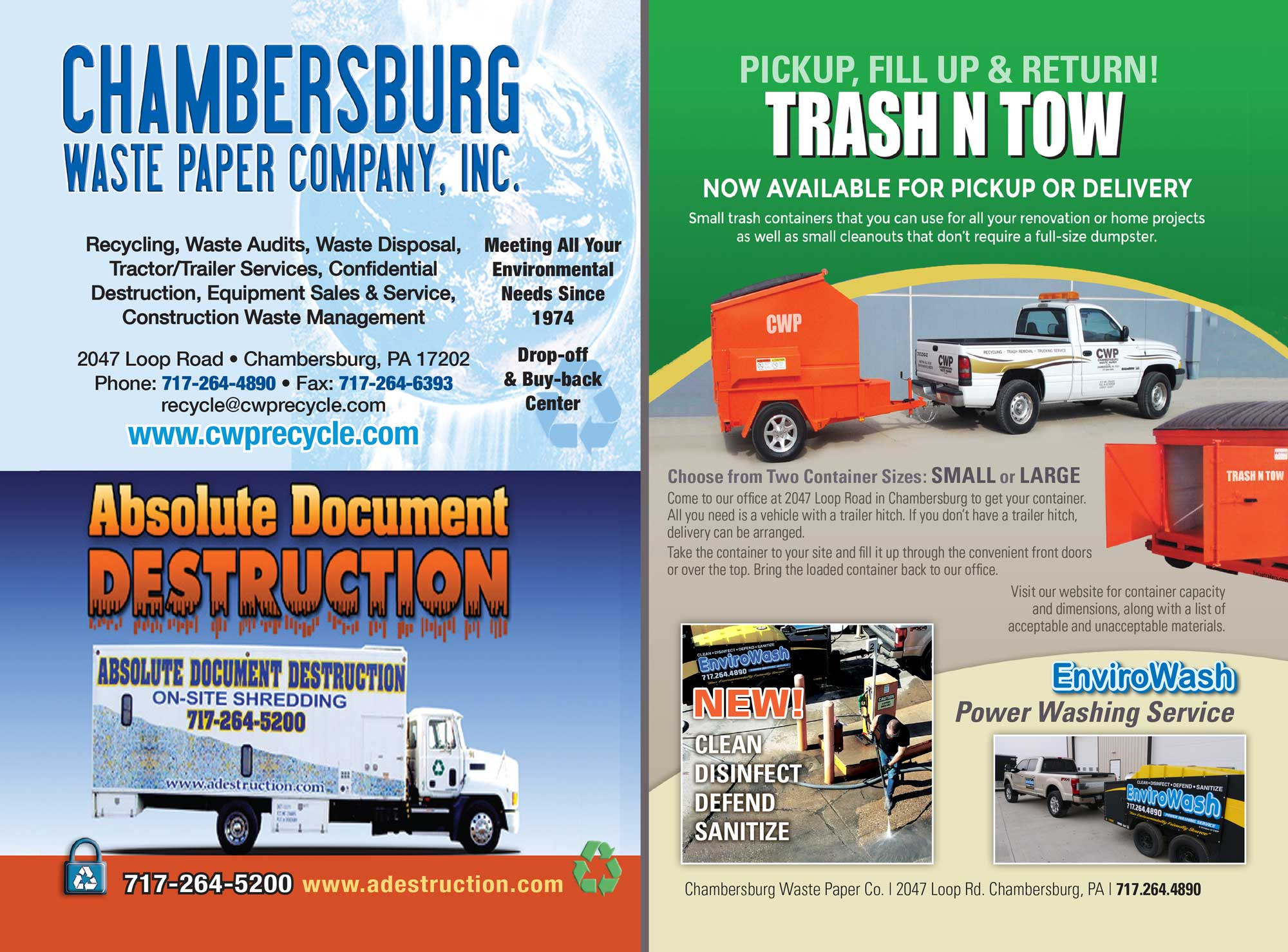 """<center>Chambersburg Waste Paper Company, Inc. 