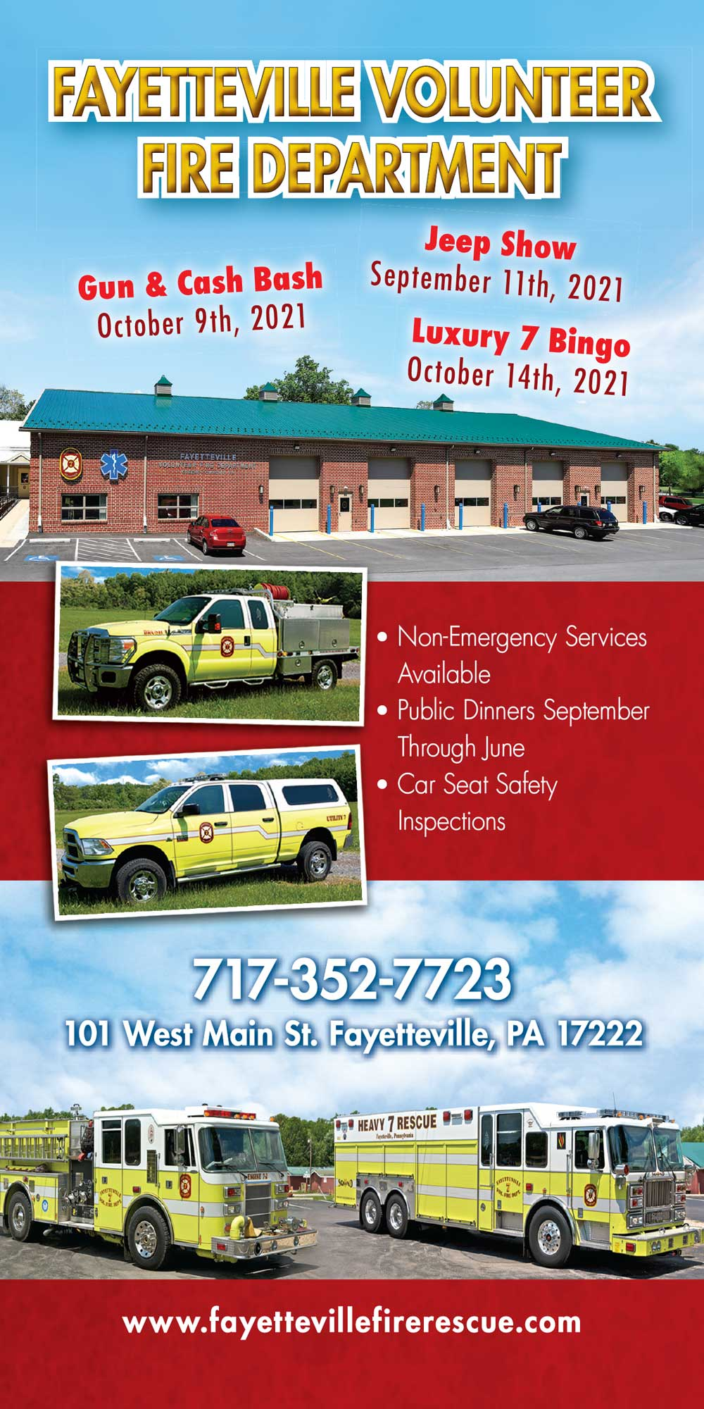 """<center>Fayetteville Volunteer Fire Department 