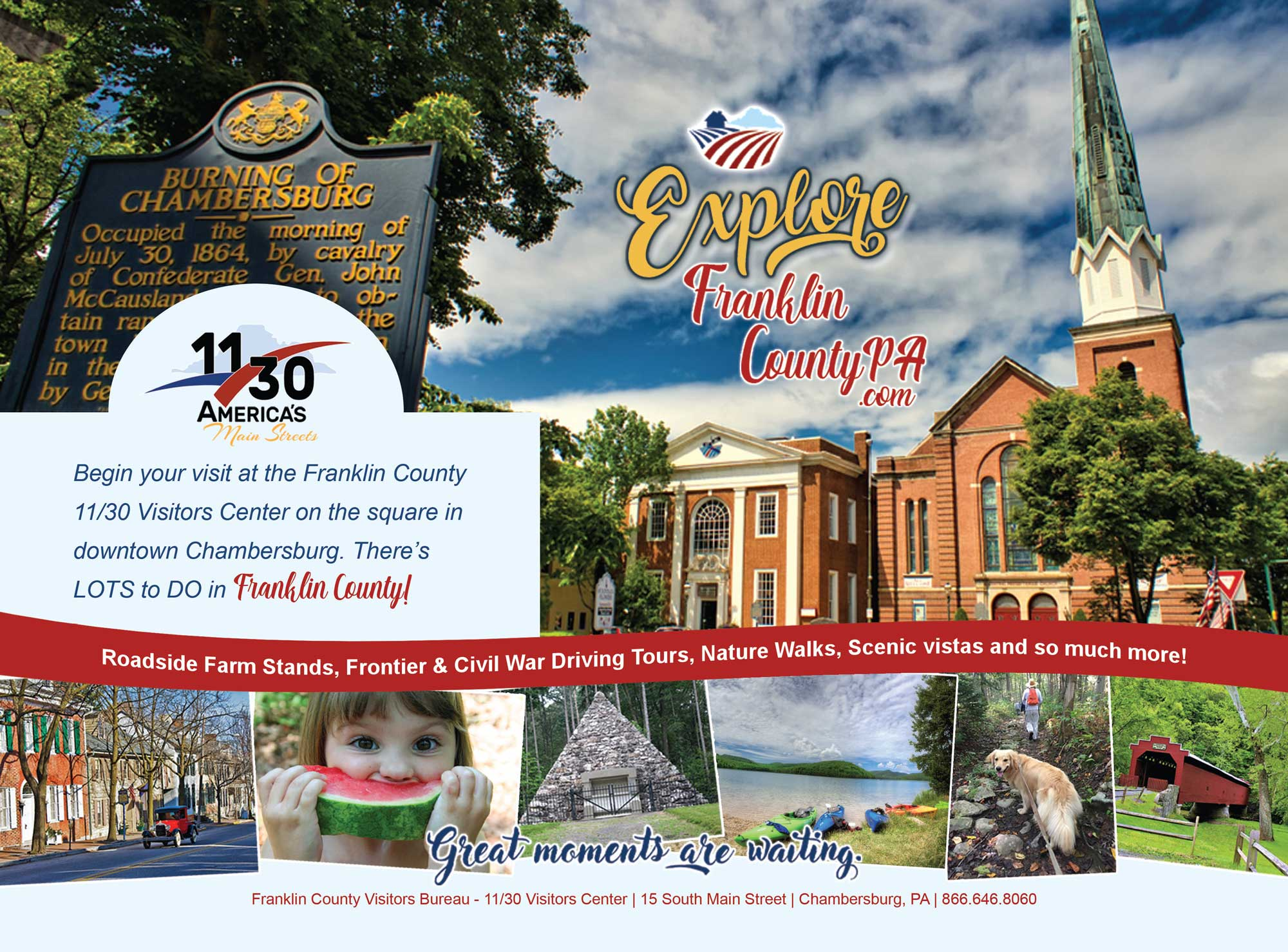 """<center>Franklin County Visitors Bureau 