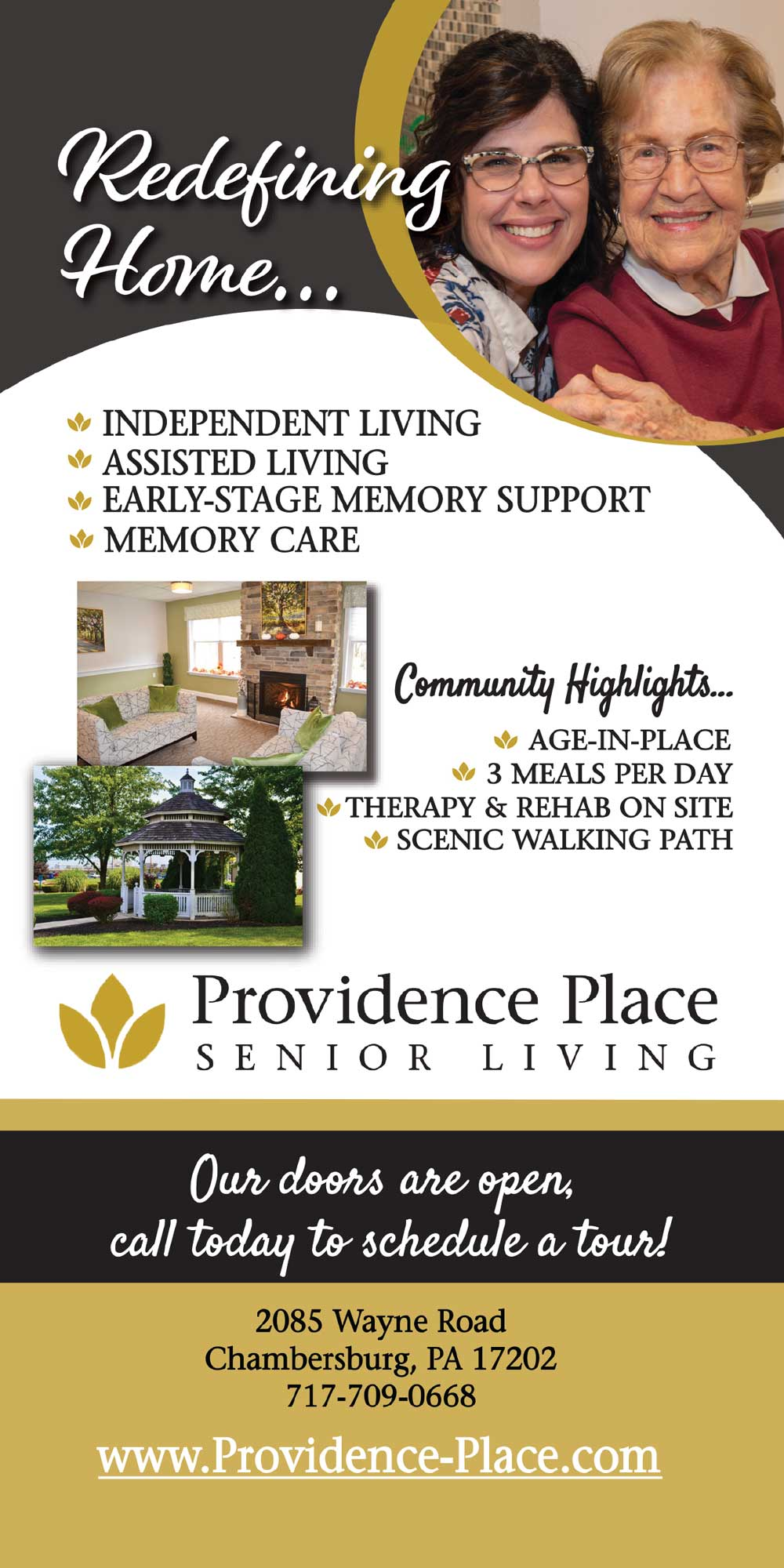 """<center>Providence Place Senior Living 