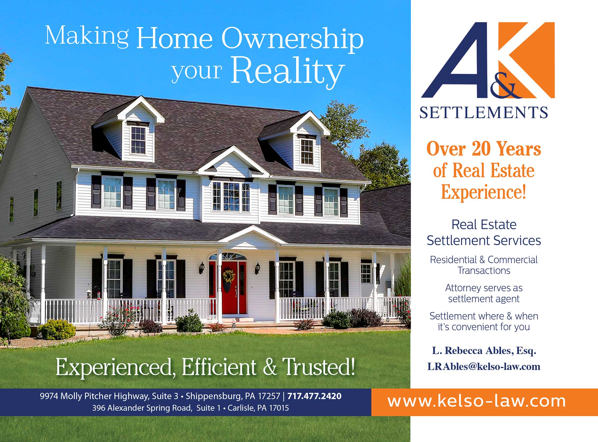 """<center>A&K Settlements 