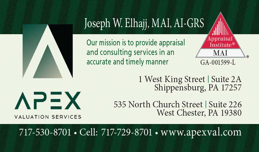 """<center>APEX Valuation Services   <b><a href=""""https://www.apexval.com"""" target=""""_blank"""" rel=""""noopener noreferrer"""">CLICK HERE to view the website</a></b></center>"""