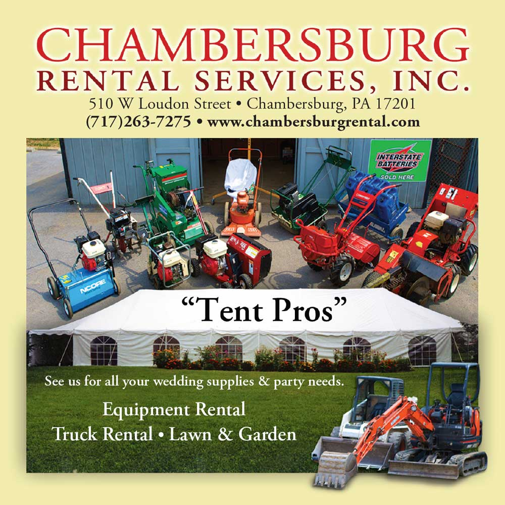 """<center>Chambersburg Rental Services, Inc. 