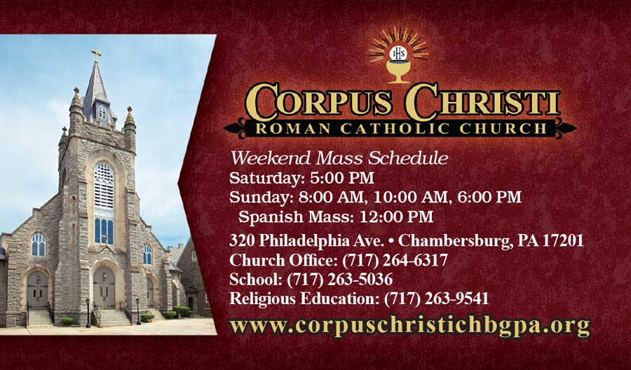 """<center>Corpus Christi Roman Catholic Church 
