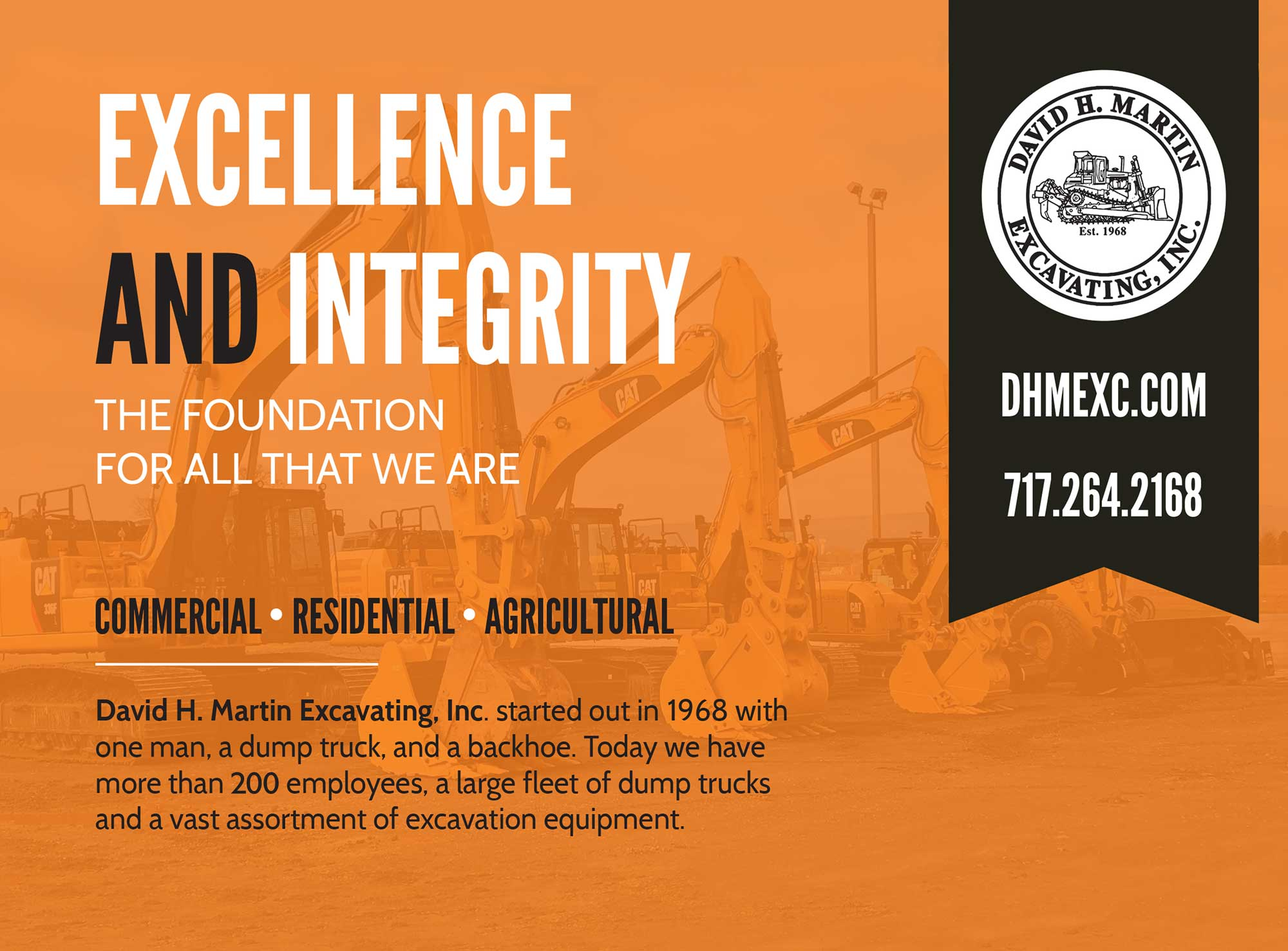 """<center>David H. Martin Excavating, Inc. 