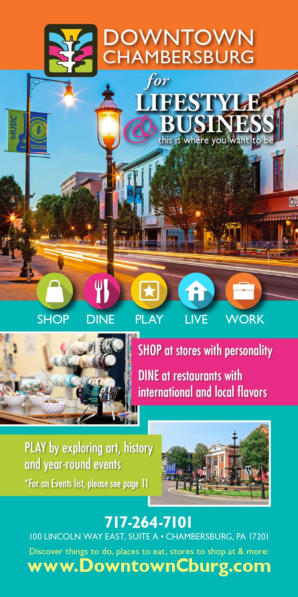 """<center>Downtown Chambersburg 