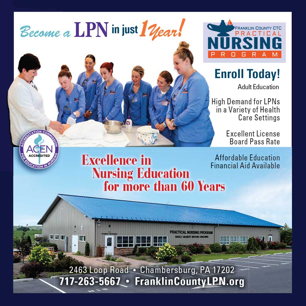 """<center>Franklin County CTC Practical Nursing Program 