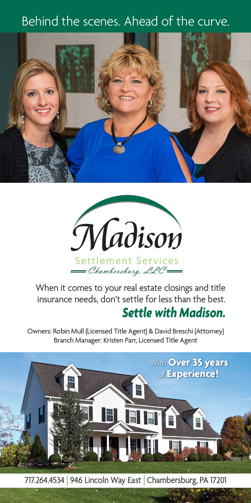 """<center>Madison Settlement Services Chambersburg, LLC   <b><a href=""""https://madisonsettlements.com"""" target=""""_blank"""" rel=""""noopener noreferrer"""">CLICK HERE to view the website</a></b></center>"""