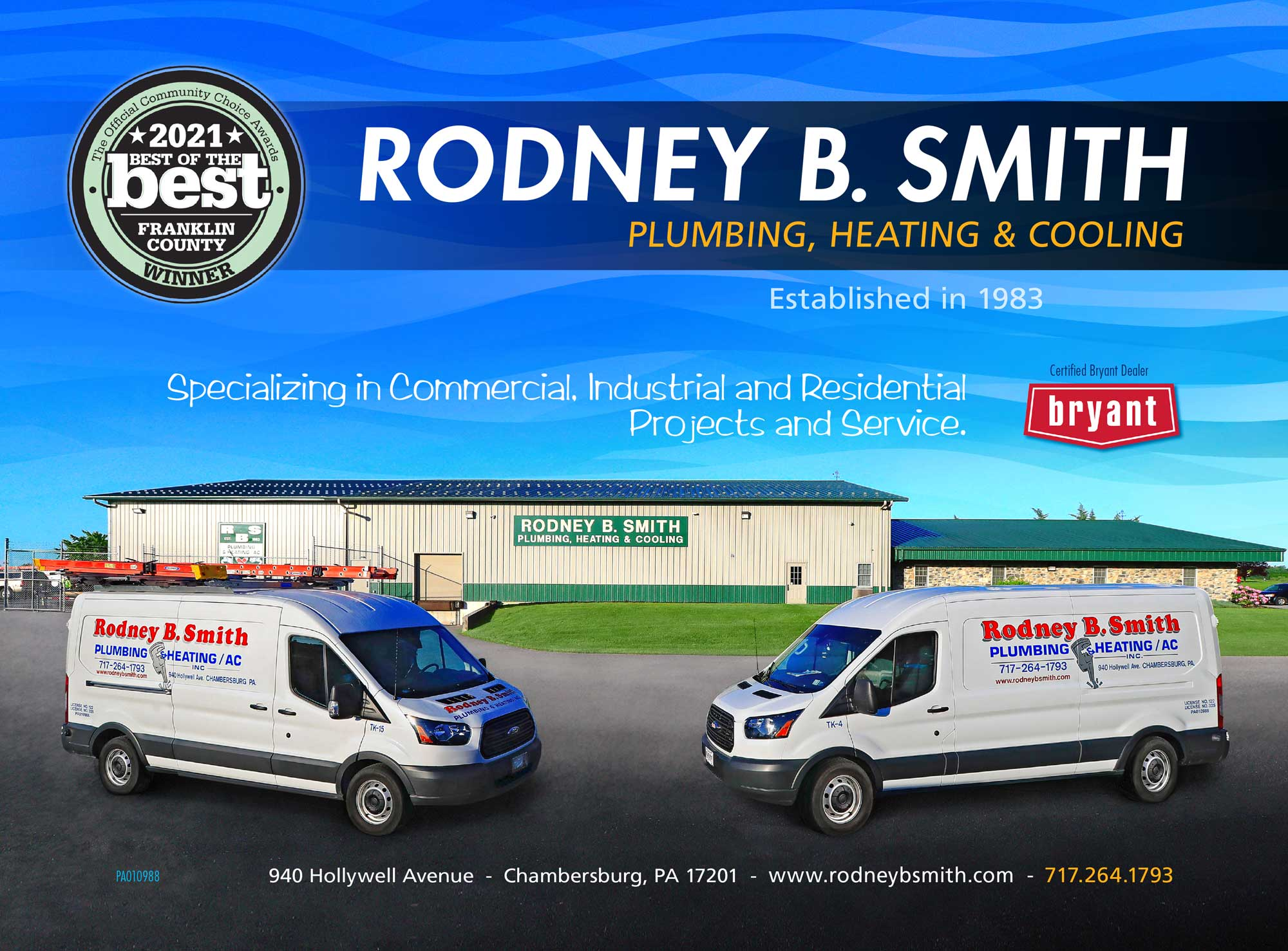 """<center>Rodney B. Smith Plumbing, Heating & Cooling   <b><a href=""""https://rodneybsmith.com"""" target=""""_blank"""" rel=""""noopener noreferrer"""">CLICK HERE to view the website</a></b></center>"""