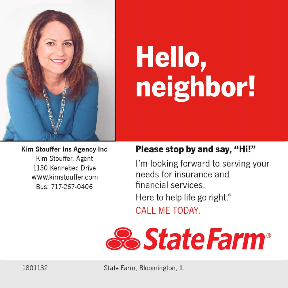"""<center>Kim Stouffer - State Farm   <b><a href=""""https://www.kimstouffer.com"""" target=""""_blank"""" rel=""""noopener noreferrer"""">CLICK HERE to view the website</a></b></center>"""